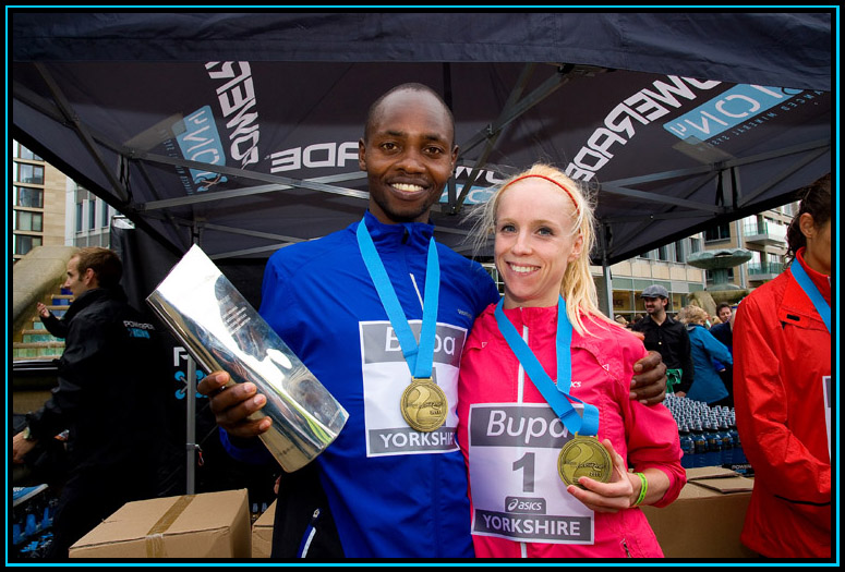 Micah Kogo and Gemma Steel - Bupa Great Yorkshire Run 2011