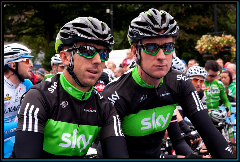 Russell Downing and Bradley Wiggins - 2010 Tour Of Britain